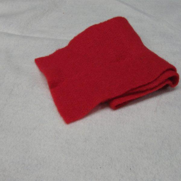 Panno lana rosso 50 x 70 cm