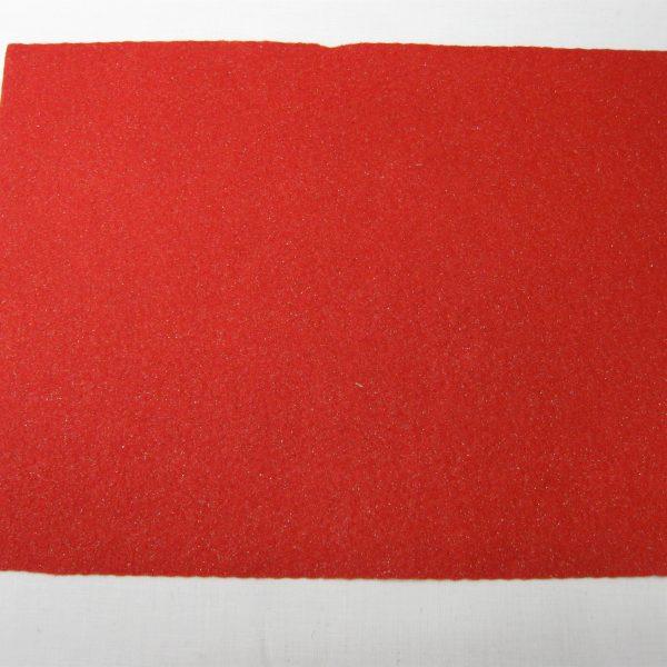 Feltro glitter rosso