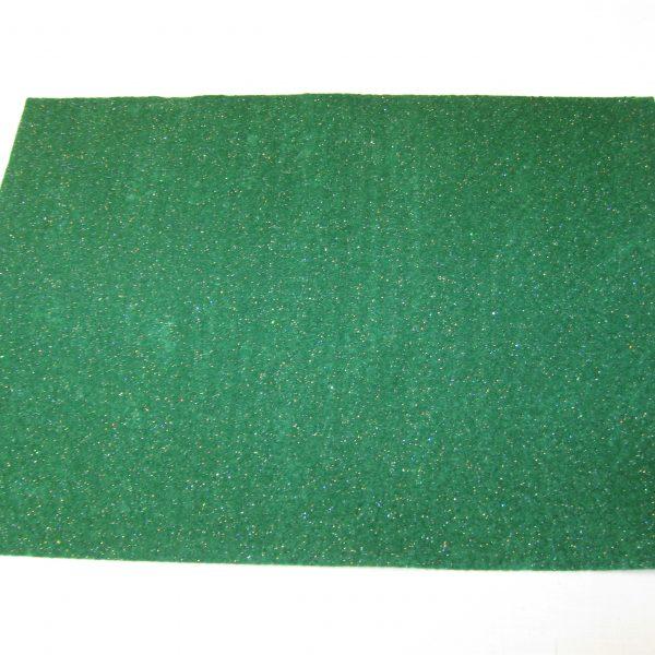 Feltro glitter verde scuro