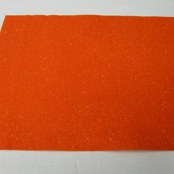 Feltro glitter arancione