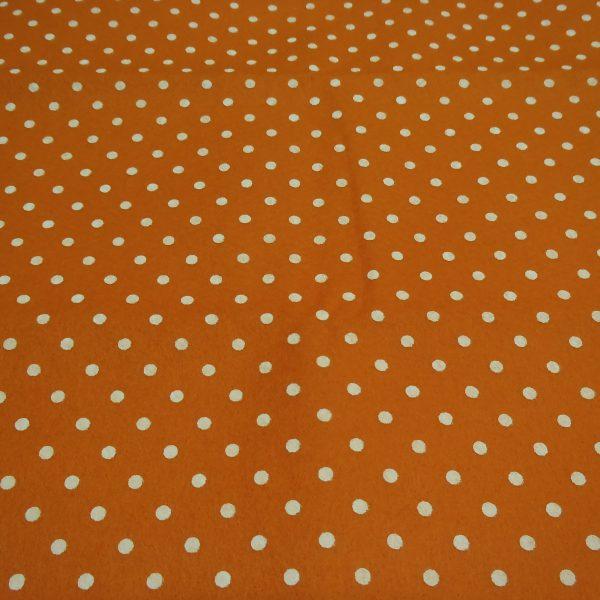 pannolenci arancio con pois bianco 45 x 50 cm