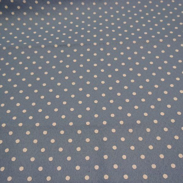 pannolenci azzurro polvere con pois panna 45x50 cm