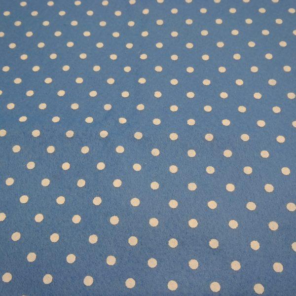 pannolenci azzurro con pois bianchi 45x50 cm