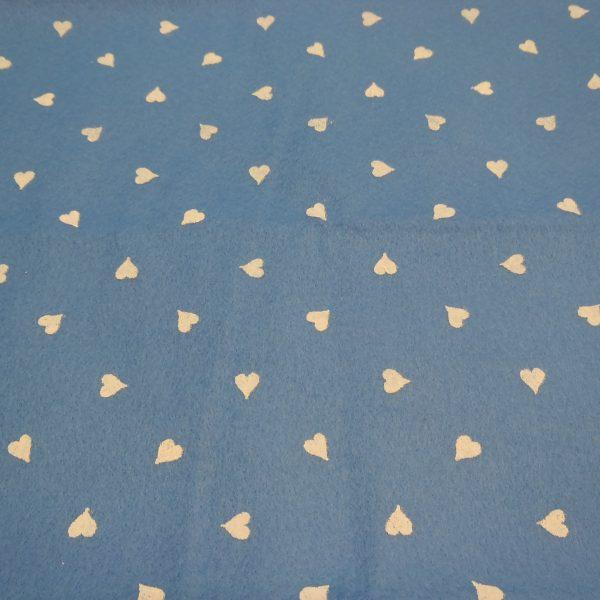 pannolenci azzurro cno cuori bianchi 45x50 cm