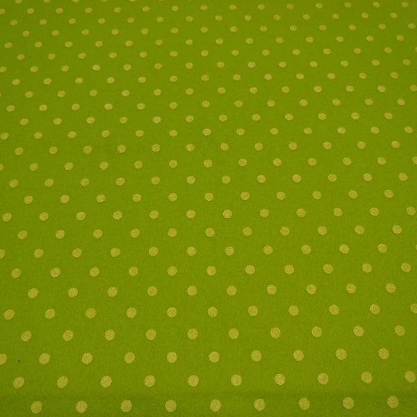 pannolenci verde brillante con pois bianchi 45x50 cm