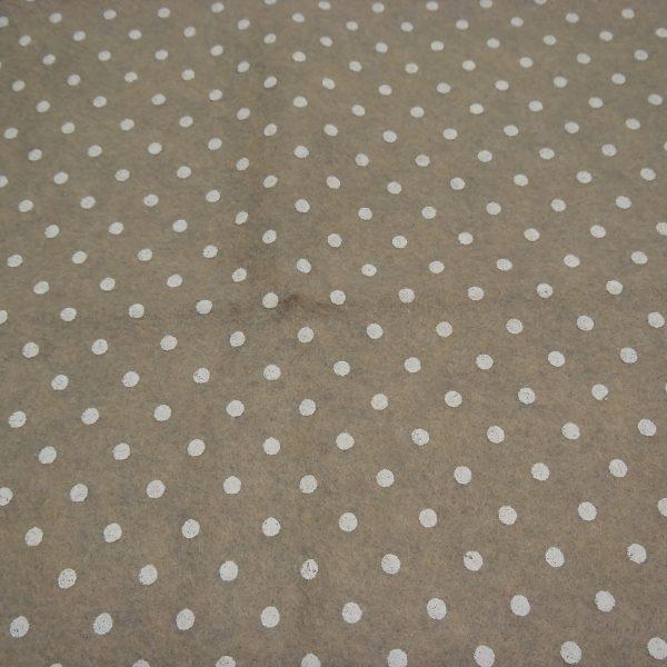 pannolenci sabbia con pois bianchi 45x50 cm