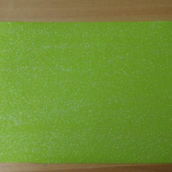 feltro glitter colore verde acido