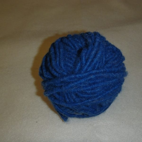 Cordone di lana blu navy 5 mm.