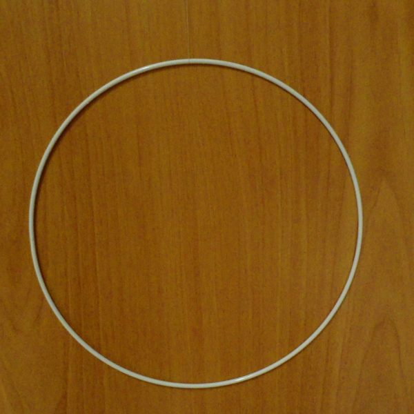 cerchio di metallo colore bianco diametro cm 35