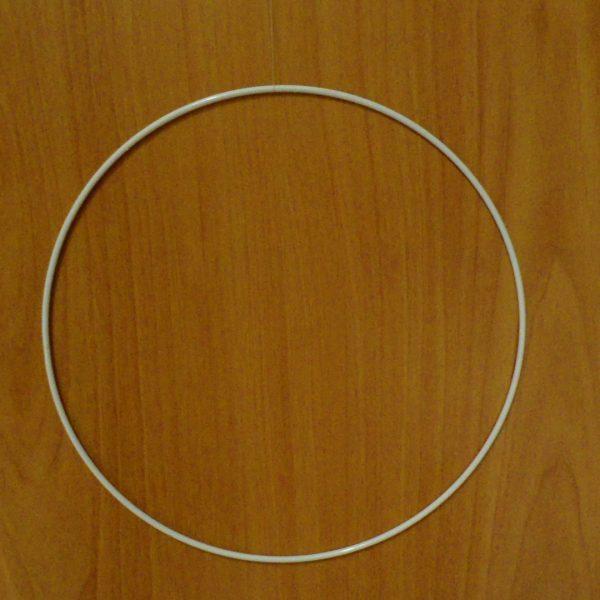 cerchio di metallo colore bianco diametro cm 30